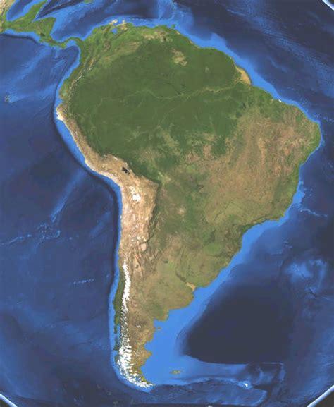 america map satellite satellite map of south america