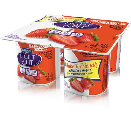 dannon light and fit carb and sugar control light fit 174 carb sugar control 4 oz 4 packs dannon