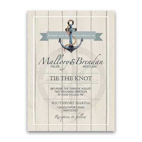 wedding invitations nautical nautical wedding invitations anchor ship wedding set
