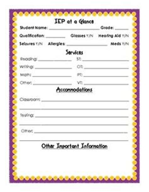 Iep At A Glance Template by Certificate Of Awesomeness Free Printable Certificates