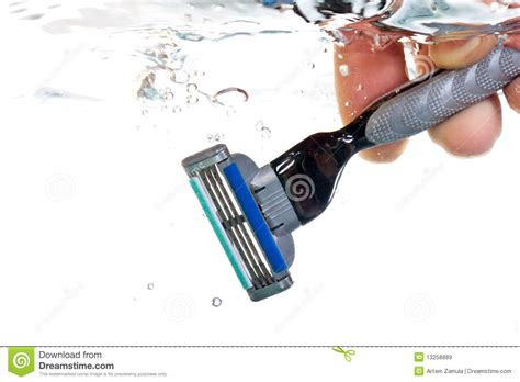 razor in water royalty free stock images image 13258889