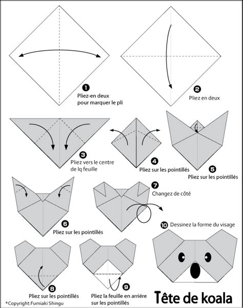 How To Make A Origami Koala - pin origami de koala on