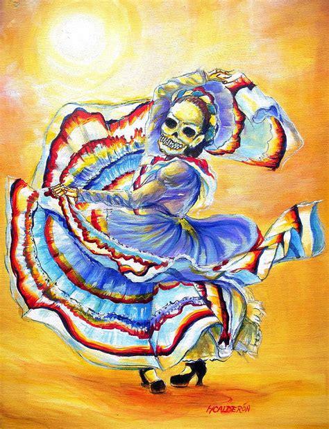 calderon the painter of la bruja painting by heather calderon