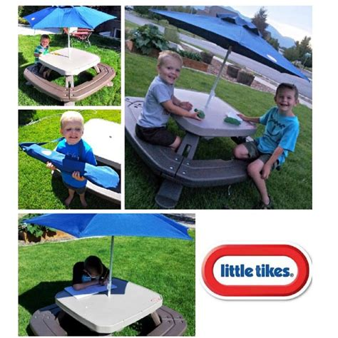 tikes picnic table set tikes picnic table with umbrella images bar
