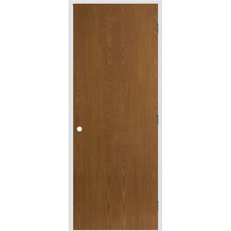 Lowes Interior Prehung Doors Shop Reliabilt Flush Hollow Oak Left Interior Single Prehung Door Common 32 In X 80 In