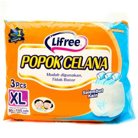 Lifree Popok Perekat Untuk Dewasa jual popok celana dewasa lifree unicharm xl 3pcs princess etcetera