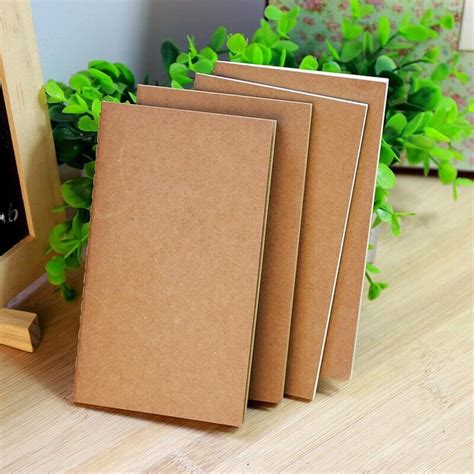 How To Make Notebook Paper Look - diy vintage kraft paper notebook creative journal notepad
