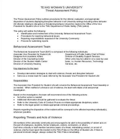 threat risk assessment template threat assessment templates 9 free word pdf documents