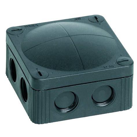 Junction Box 80x80x45 Black s ip66 67 weatherproof junction box black wiska combi 308 5 s ip66 67 weatherproof junction box