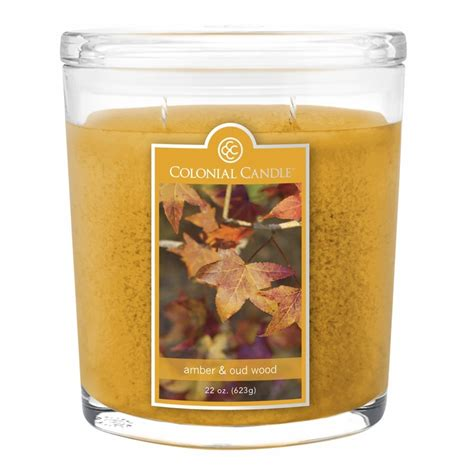 Colonial Candle Oud Wood 22 Oz Oval Jar Colonial Candle
