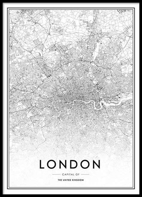 Poster Escape From New York 30x40cm poster con plano de berlin en blanco y negro laminas con