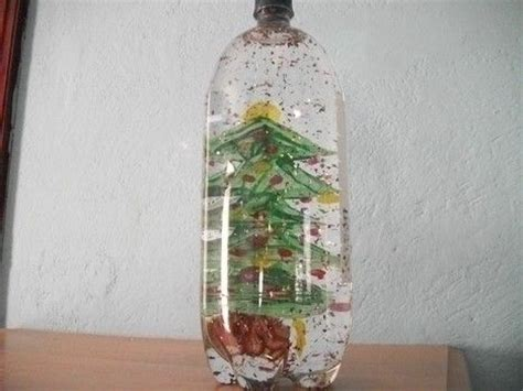 create a snow globe out of a soda bottle xmas ideas