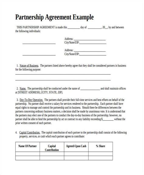 Company Partnership Agreement Template