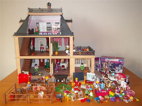 1990s doll houses vintage lot of playmobil toys 5300 victorian mansion dollhouse furniture people