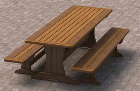 bench to picnic table plans 8ft trestle style picnic table with benches 002 building