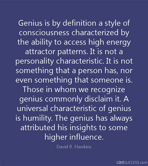 energy pattern definition genius is by definition a style of consc by david r