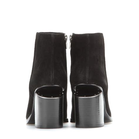 wang gabi suede ankle boots in black lyst