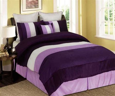 Lilac Comforter Sets by King Lilac And Purple Tones Micro Faux Silk Comforter Set