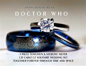 hello wedding ring set hello i m the doctor doctor who wedding ring set