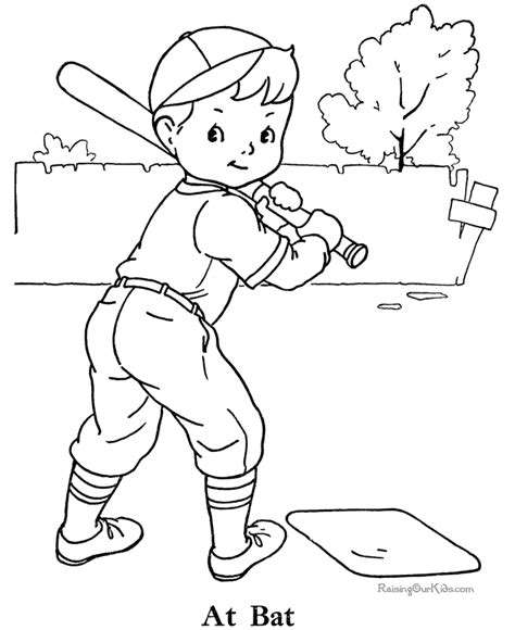 baseball coloring picture to print