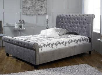 limelight bed limelight orbit 5ft kingsize mink velvet fabric bed frame