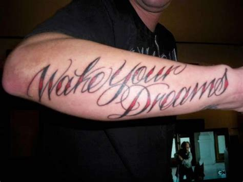tattoo quotes dreams hope belief wake your dreams tattoo