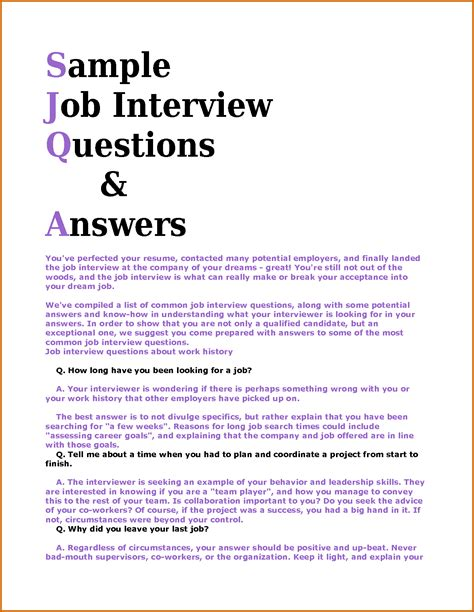 resume questions and answers resume ideas