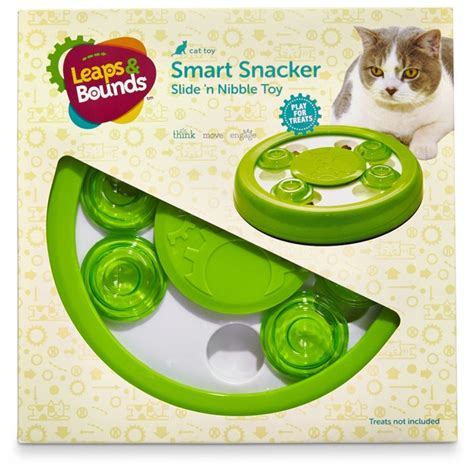 leaps and bounds toys leaps bounds cat smart snacker slide n nibble treat each from petconow