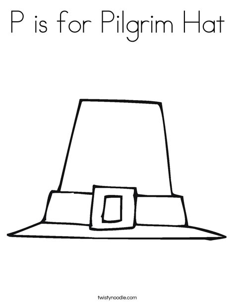 p is for pilgrim hat coloring page twisty noodle