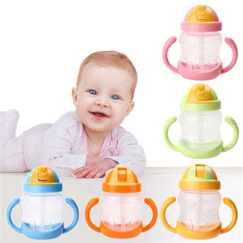 Us Baby Straw Cup 150ml 16 1pc handle baby trainer cup straw type cup baby children feeding water cup