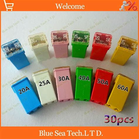 Car Types Of Fuses by Aliexpress Buy 6 Models 30pcs Original Rectangle