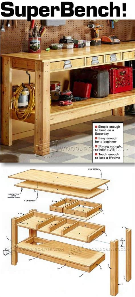 workshop bench plans best 25 workbenches ideas on pinterest