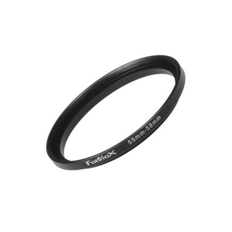 Step Up Ring 55mm 58mm fotodiox metal step up ring filter adapter anodized black