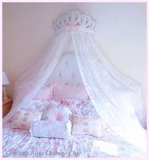 crown canopy for bed www crystalsrosecottagechic com 169 website design by onespringstreet net 2011