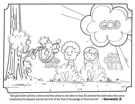 coloring page for adam and eve serpent bible coloring pages what s in the bible