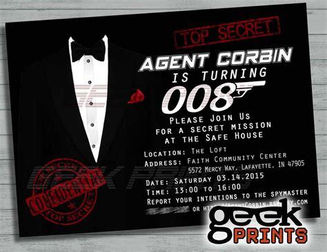 Casino Theme Party Decorations Spy Secret Agent James Bond Birthday Quot Secret Agent 008 Quot Catch My Party