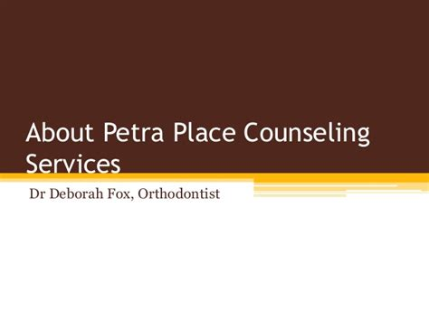 A Place Counseling About Place Counseling Services