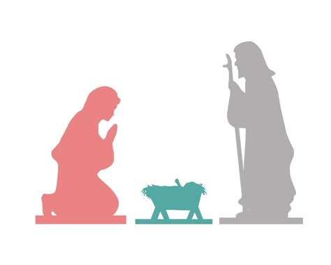nativity silhouette template nativity silhouette template free the best free software