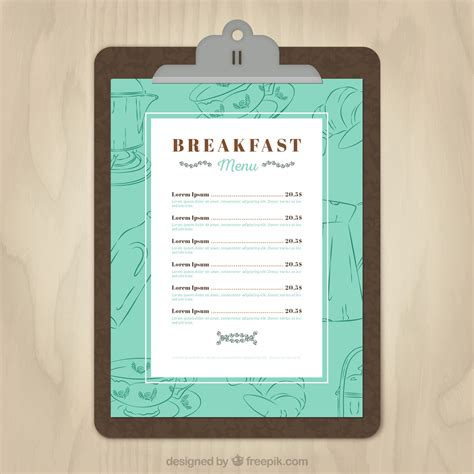 11 Free Sle Breakfast Menu Templates Printable Sles Breakfast Invitation Template Free