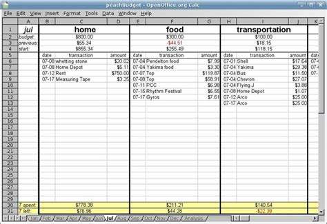accounting budget template 222 best speeadsheets images on households