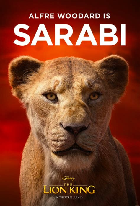 disney releases  lion king character posters