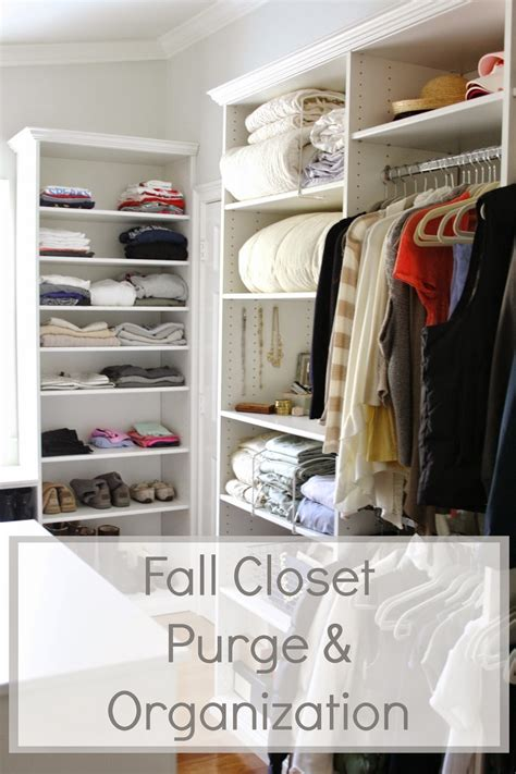 fall closet purge organization  upcoming martha