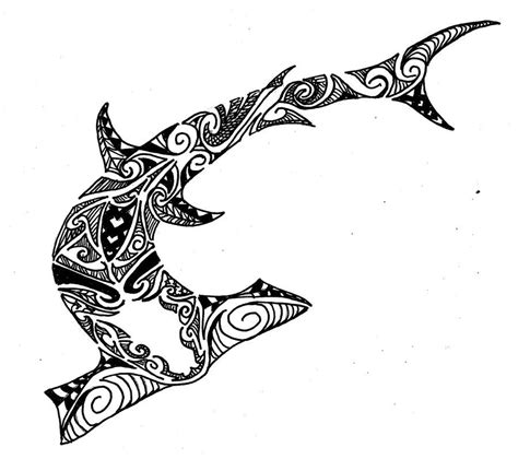 tribal ocean tattoo polynesian designs and patterns hammer shark polynesian