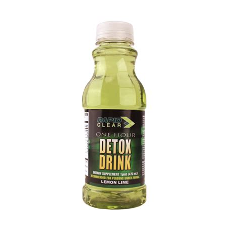 Test Detox Drinks Uk by Rapid Clear Lemon Lime Detox Drink