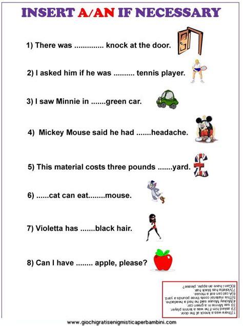 testi in inglese facili esercizi inglese a an esercizi in inglese inglese