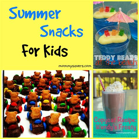 summer snacks  kids mommysavers