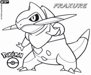 pokemon coloring pages haxorus pok 233 mon black and white coloring pages printable games