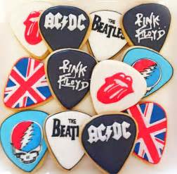 Music Themed Home Decor classic rock guitar pick cookies cookie connection