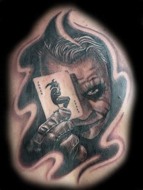 joker playing card tattoo designs joker realistic joker n joker card design