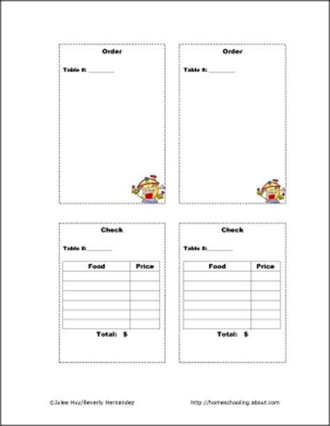 printable play kitchen templates let s play restaurant restaurant and plays